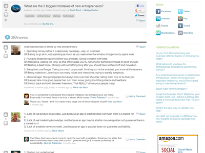 mosaicHUB Question and Answers Screenshot
